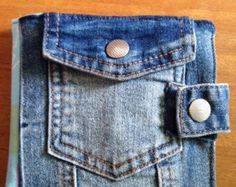 Sewing kit/case recycled denim von BlueDenimRenew auf Etsy