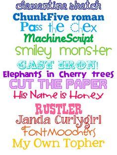 lots of fonts!