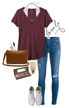 nice and classy by gabyleoni on Polyvore featuring polyvore, fashion, style, Gap, Frame, Converse, Lacoste, Kendra Scott, Urban Decay, tarte, Bobbi Brown Cosmetics and clothing