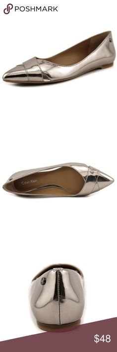 NEW Calvin Klein Gailia Pointed Toe Patent Flats. •Pointed-toe ballet flat featuring crisscross straps and small side cutouts •Round logo stud at heel NEW - no box - no tags. Open to reasonable offers Calvin Klein Shoes Flats & Loafers