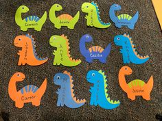 Dorm Door Decorations, Daycare Decorations, Ra Door Tags, Dinosaur Kids Room, Ra Themes, Door Decks, Painted Closet, Dinosaur Activities, Resident Assistant