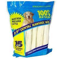 Rawhide Dental Rolls - 15 pk Bulk bones at Sams Club!