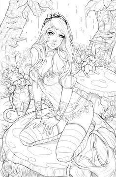 Elite Alice BW by ToolKitten on deviantART: