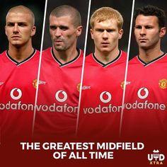 "Name a better midfield, I'll wait ! ▪️ ( @utdxtra) #beckham #keane #scholes #giggs #classof92…"""
