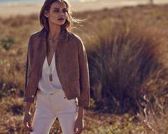 Whites & Tan Leather Jacket