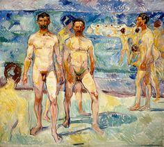 Kansallisgalleria - Taidekokoelmat - Kylpeviä miehiä