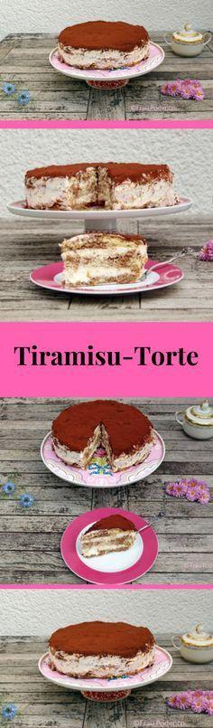 Diese Tiramisu-Torte kommt mit selbst gebackenem Biskuit daher. Das Rezept ist ganz einfach und gelingt immer. #kuchen #backen #tiramisu