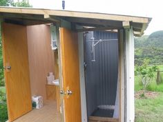 compost toilet and shower room