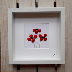 Poppies Pebble Picture, Poppy pebble picture, Remembrance Day, We will remember them