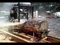 Home Built Hydraulic Sawmill - YouTube