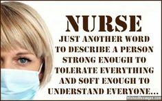 That's a nurse...