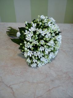classy bridal bouquet with white bouvardia