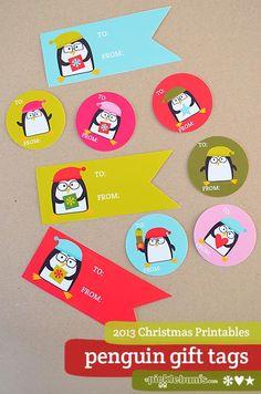 2013 Christmas Printables - Free printable penguin gift tags!