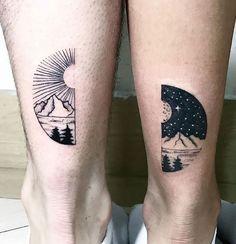 Ink Your Love With These Creative Couple Tattoos kreative paar Tattoo-Ideen © 💘💘💘 Denken und Trinken Bff Tattoos, Pair Tattoos, Sibling Tattoos, Trendy Tattoos, Unique Tattoos, Cross Tattoos, Tattoo Quotes, Tattos, Ring Tattoos