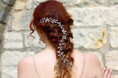 Bridal Hair Vine Bridal headpiece Opal by DonataleFlowers4You