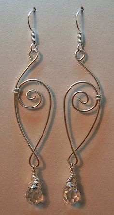 """silver wirework dangle earrings by aenigmaevike on flickr"" - so simple yet so beautiful!!"