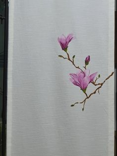Hand Painted Fabric, Fabric Painting, Magnolia, Denim Paint, Clothing, Flowers, Painting On Fabric, Outfits, Magnolias