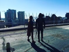Arrow: Stephen Amell Reveals Photo of Supergirl  After teasing the return of a major villainset to appear in Arrow's upcoming 100th episode series star Stephen Amell has once again taken to social media to offer a sneak peek at a long-awaited DC superhero meet-up.  SeeMelissa Benoist's Supergirl standing alongside Green Arrow in the photo below courtesy of Amell on Twitter.   via Stephen Amell on Twitter  Continue reading  https://www.youtube.com/user/ScottDogGaming @scottdoggaming