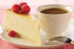 White chocolate and cream cheese make this cheesecake incredibly smooth, creamy and rich. Fresh raspberries on top add color and flavor.