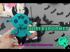 Chibi Baphomet - Amigurumi Tutorial (subtitles in English) Baphomet, Chibi, Amigurumi Tutorial, Crochet Videos, Crochet Animals, Crochet Projects, Smurfs, Youtube, Knit Crochet