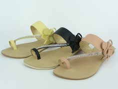 Unisa Sandals with Toe Ring   Jeweled Toe Ring Sandals (WL090106H)