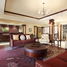 Lobby Homewood Suites, House In The Woods, Couch, Interior Design, Egg, Atlantic City, Furniture, Golf, United States
