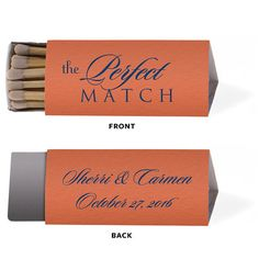 Only 1.10 each Personalized Wedding Matches Matchbook Match Book Custom Printed Lots of Colors and Designs to choose from Puzzle Piece