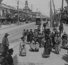 Tokyo ginza street 1904