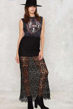 Kaelen Crochet Lace Skirt | Shop Clothes at Nasty Gal!