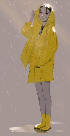 """samuelyounart: """"7. Raincoat """""""
