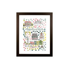 For Beth.  Charleston Map Print by Evelyn Henson