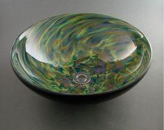 Glass Art In Fused, Mosaic U0026 Hand Blown Glass StylesConfetti Blown Glass  Vessel Sink By
