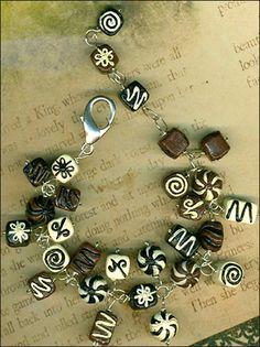 Chocolate Covered Ceramic Candy Bracelet