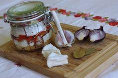 Nakladaný hermelín - Powered by Preserves, Camembert Cheese, Garlic, Baking, Vegetables, Food, Bread Making, Preserve, Patisserie