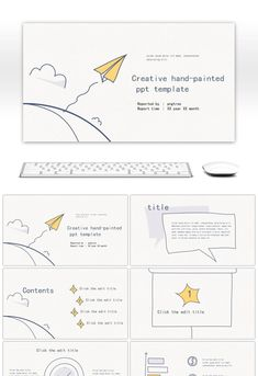 Yellow Blue Line Paper Aircraft Creative Hand-painted Business Office PPT Template Graphic Design Cv, Ppt Design, Slide Design, Layout Design, Powerpoint Background Free, Powerpoint Free, Presentation Layout, Presentation Templates, Education Templates