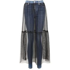 Topshop Moto Tulle Skirt Jamie Jeans (210 SAR) ❤ liked on Polyvore featuring jeans, denim skinny jeans, skinny jeans, skinny leg jeans, topshop jeans and skinny fit jeans