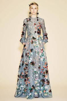 Valentino floral gown.