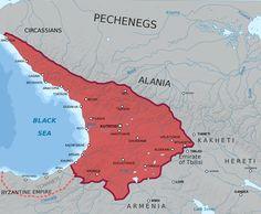Kingdom of Abkhazia, აფხაზთა სამეფო. The greatest territorial extent.