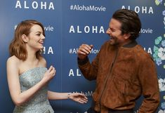 Celebrity Gossip & News | Emma Stone and Bradley Cooper Can't Stop Giggling on the Aloha Red Carpet | POPSUGAR Celebrity UK Photo 10