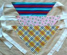 """Super Easy DIY Dog Bandanas (Scarves). But I would get a cheap collar and sew a strip of Velcro on it and make lots of interchangeable fabric pieces for every """"occasion"""" :)"""