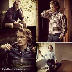 Handsome Sam modelling Barbour clothing. (He is their Global Brand ambassador)
