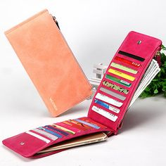 Woman Durable PU Phone Wallet Card Bag 20 Card Slots Multi-card slots Card Wallet