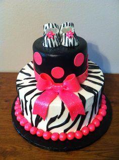 Zebra Themed Baby Shower Cake