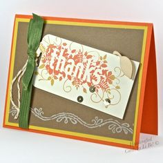 Handcrafted Thanksgiving Greeting Card With Fall Foliage Design