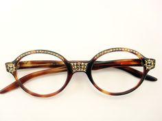 Vintage Eye Glasses Frame France  by VintageEyeglassesCat on Etsy, $120.00