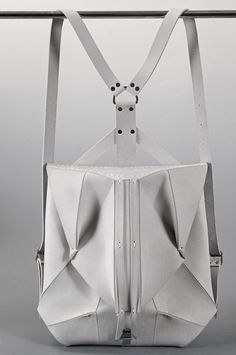 White Leather Backpack ORBIO VIA by OMTURA on Etsy