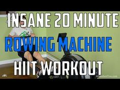 HIIT Workout - Insane 20 Minute Rowing Machine Workout - YouTube