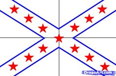 How To Draw The Confederate Flag, Step by Step, Drawing Guide, by Dawn Flag Drawing, Flag Template, Pallet Flag, Flag Quilt, Bird House Feeder, Flag Painting, American Flag Wood, Wooden Flag, Confederate Flag