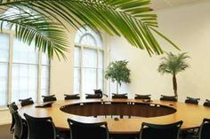This board room is furnished in a very contemporary style, yet it is in an historic building in the middle of London.