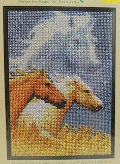 "Janlynn Forever Wild Horses Chevaux Cross Stitch Kit 013-0314-W 5"" x 7"" New #Janlynn #CrossStitch"